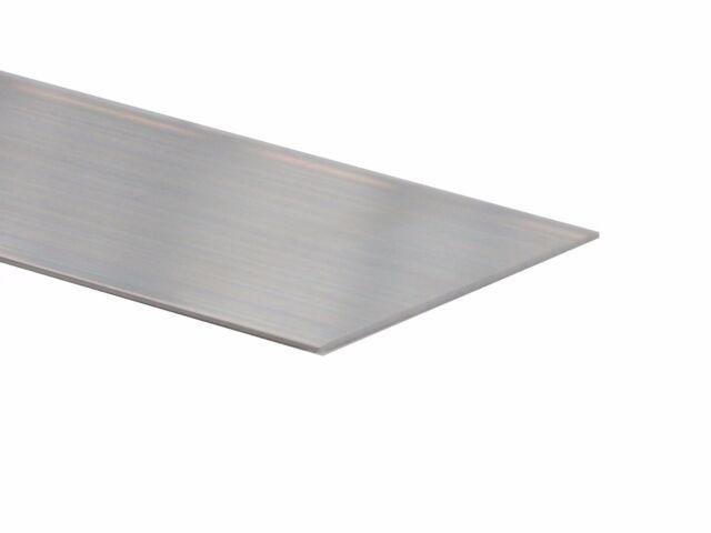 Aluminium Standard Flat Section 100mm x 1.5mm at 300mm long mill finish 3pcs