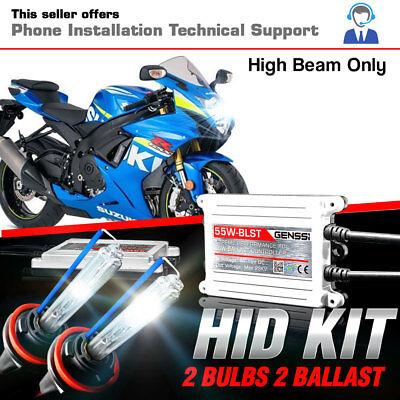 2006 2007 Suzuki GSX-R600 HID Xenon H7 Low /& H9 High Beam AC Slim Motorcycle Kit