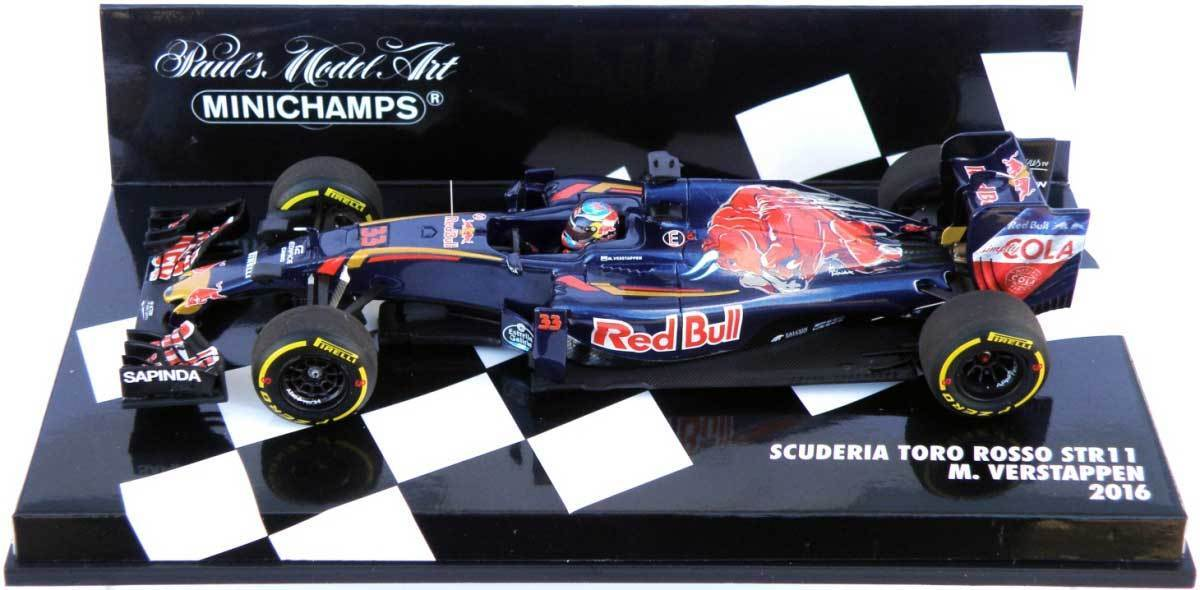 Minichamps Tgold red STR11 2016 - Max Verstappen 1 43 Scale