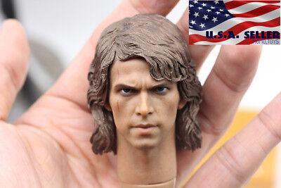 """1//6 Luke Skywalker Star Wars Head Sculpt For 12/"""" Hot Toys Figure *U.S.A SELLER*"""