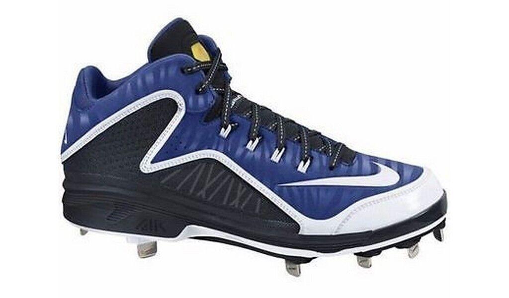 Nike Air Swingman MVP 2 3 4 Metal Azul blancoo Negro Grapa de béisbol 616258-410