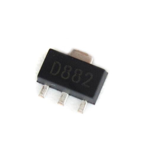 10//50//100PCS 2SD882 SOT89 3A//40V NPN SOT-89 SMD transistor Crystal Valve Adorn