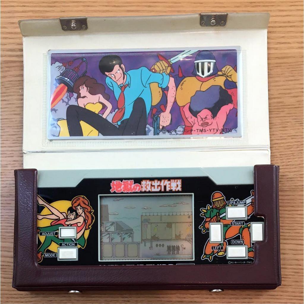 Reloj De Bolsillo Lupin el 3RD tercera época 1984 LCD Juego Con Estuche Original De Japón