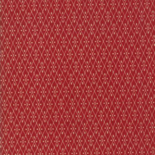 Moda Fabric Vive La France Nemours Rouge Per 1//4 Metre