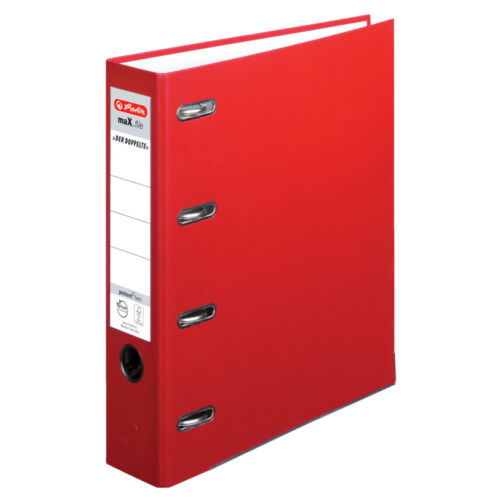 Herlitz Doppelordner max.file 2x A5 Quer Bankordner rot Farbe A4