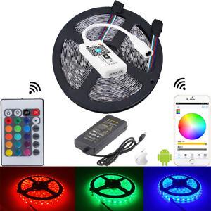 5050-300led-RGB-LED-strip-lihgt-12V-24Key-WiFi-RGB-Controller-5A-12V-LED-power