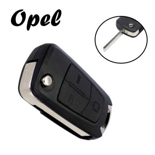 1x Opel Klappschlüssel Ersatz Gehäuse 3-Tasten Fernbedienung mit Rohling KS02
