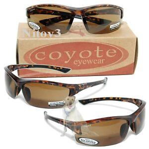 9cb02baba189 Coyote Eyewear BP-7 Sunglasses - Polarized, Bi-Focal +2.0 Large Fit ...