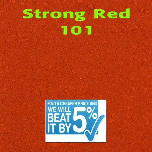 25kg  STRONG RED Y101 Dye//Pigment for Concrete Mortar /& Cement Render