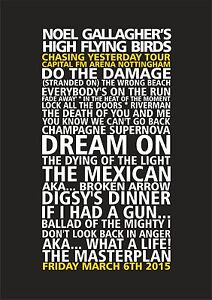 Noel-Gallagher-s-High-Flying-Birds-Set-List-Poster-Nottingham-March-6th-Oasis