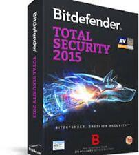 BitDefender Total Security   2015- 2016  1 AÑO 3 PCs  (CLAVE ORIGINA NUEVAL)