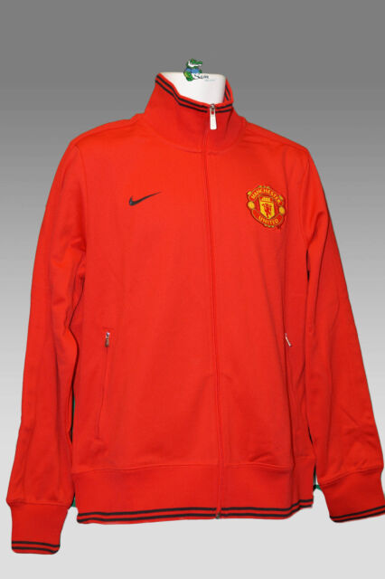 4f6a301d5f68 Nike Manchester United Football Club N98 TRANSIT Jacket Red L for ...