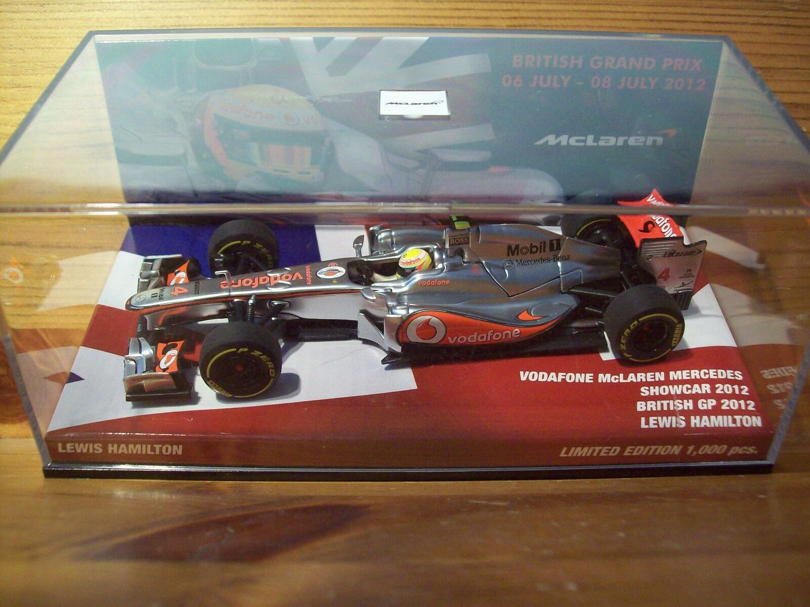 1 43 McLAREN MERCEDES  voiture 2012 Lewis Hamilton British GP 2012  venez choisir votre propre style sportif