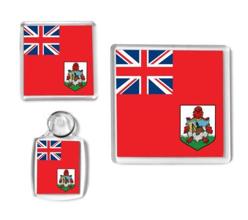 Caribbean Gift Ser BERMUDA Flag Keyring Coaster Christmas Stocking Filler.