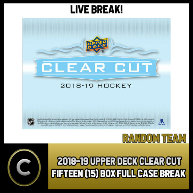 2018-19 UPPER DECK CLEAR CUT HOCKEY 15 BOX FULL CASE BREAK #H533 - RANDOM TEAMS