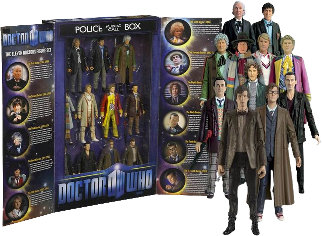 Doctor Who - 11 Doctors Action Figure Collectors Set-CHA03418