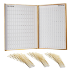 Makartt 308 Nail Color Chart Display Book Golden Polish UV GEL Salon Tools