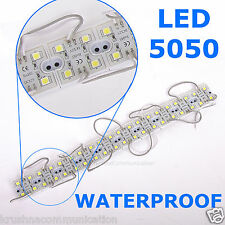 10 unit Waterproof Light Strip Module 4 LED SMD5050 PURE White  bright DC 12V