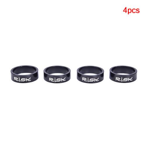 4 pcs 5//10mm Adjustment Aluminum Alloy Bike Fork Washer Stem Headset Spacers Gc
