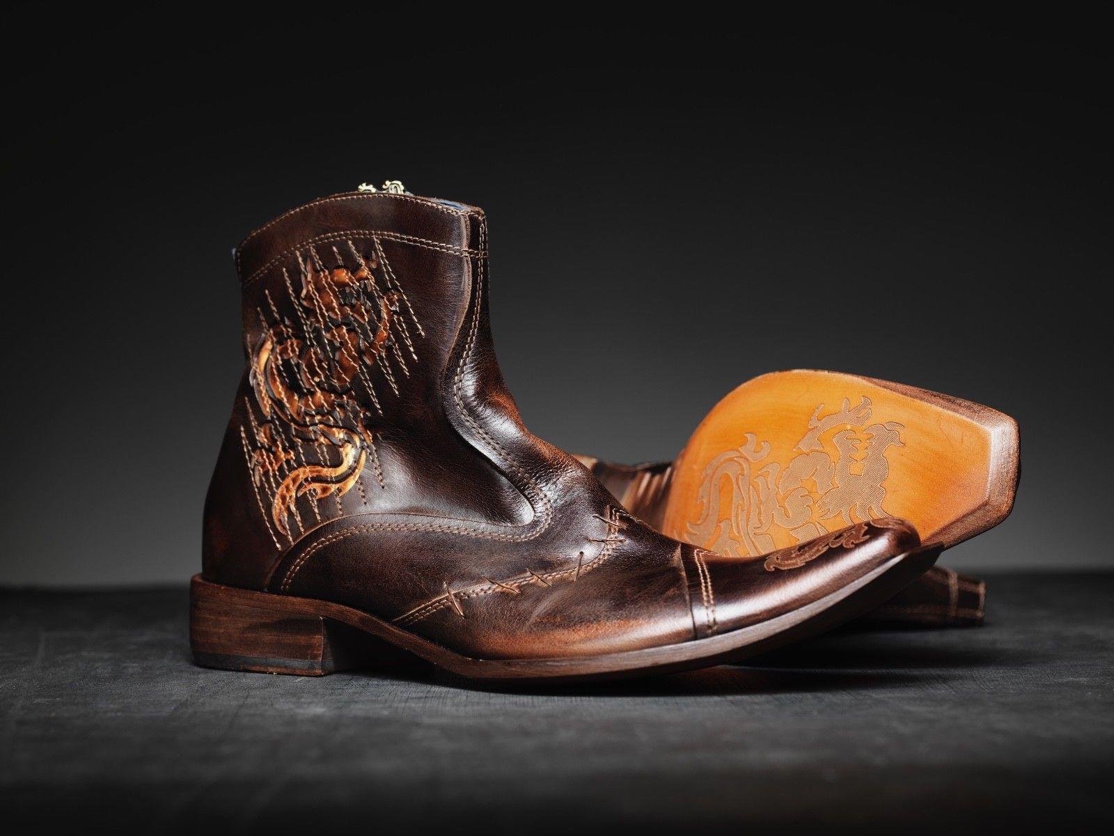 nuevo  Mark Nason TRAXX Dragon Rock botas US8 angustiado marrón ()