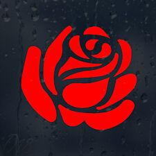 Flower Red Bourgeon Rose Car Decal Vinyl Sticker For Window Bumper Panel Laptop