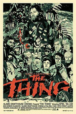 Framed Print - John Carpenter's The Thing Movie Poster (Picture Blu-Ray DVD Art)