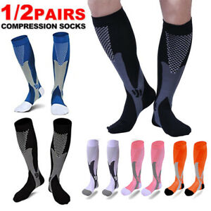 Sports-Compression-Socks-Knee-High-20-30mmHg-Graduated-Support-Stockings-Running
