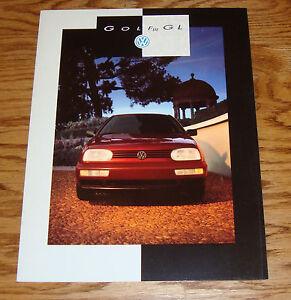 Original 1994 Volkswagen VW Golf III GL Verkaufsprospekte 94