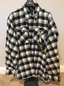 89fa4e572a Image is loading Scorpion-EXO-Covert-Flannel-Shirt-Black-White-Yellow-