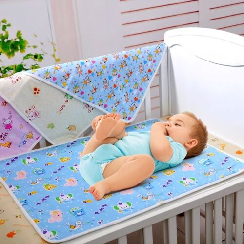 Baby Changing Pad Infant Cotton Printed Cover Toddlers Waterproof Urine Mat UP02
