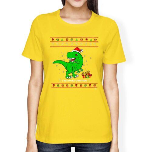 1Tee LINEA DONNA LOOSE FIT T Rex odia il Natale T-shirt