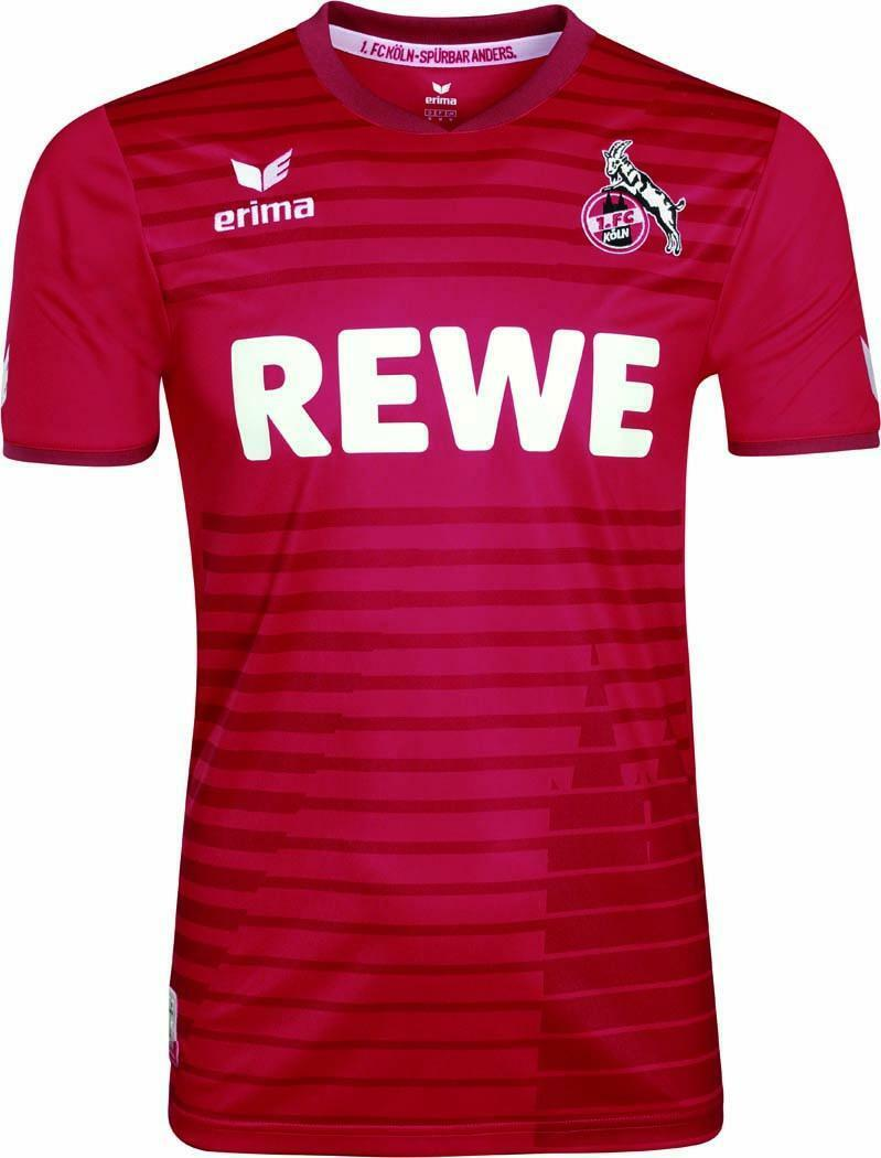 Erima 1. Köln FC Köln 1. Auswärtstrikot Kinder Erwachsene 2017/2018 rot 61a483