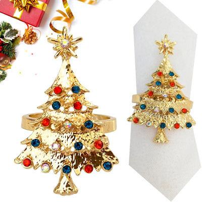 Christmas Tree Napkin Rings.1 Pcs Christmas Tree Napkin Ring Wedding Table Supplies Shining Diy Dinner Decor Ebay