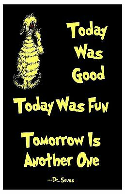 "Dr. Seuss Art Print Home Decor Quote Poster 11x17"" Rare Hot New"