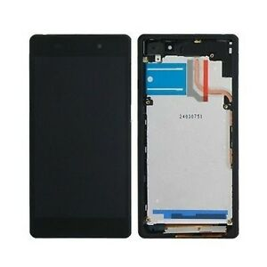 DISPLAY-TOUCH-SCREEN-COVER-FRAME-ORIGINALE-SONY-XPERIA-Z2-L50W-D6503-VETRO-NERO