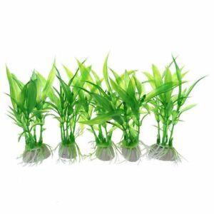 Fish-Tank-Aquarium-Ornament-Plants-Pack-of-5pcs-Green-D3M5