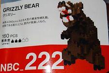 Grizzly Bear Nanoblock Micro-Sized Building Block Construction Brick TOy NBC222