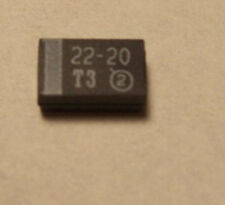 VISHAY TANTALUM CAPACITORS 22uF 20V SMD (30 PCS)