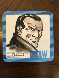 CHARLIE ADLARD original NEGAN/THE WALKING DEAD art on Hero Initiative coaster