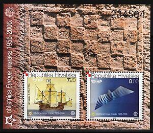 Europa-Sailing-Ship-Gull-souvenir-sheet-mnh-2005-Croatia-592a-CV-60-00