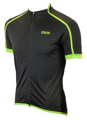 EIGO CLASSIC MENS SHORT SLEEVE CYCLING JERSEY BLACK GREEN