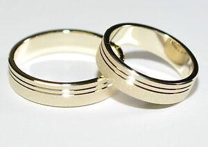 1 Paar Trauringe Eheringe Hochzeitsringe Gold 585 Breite 5 Mm