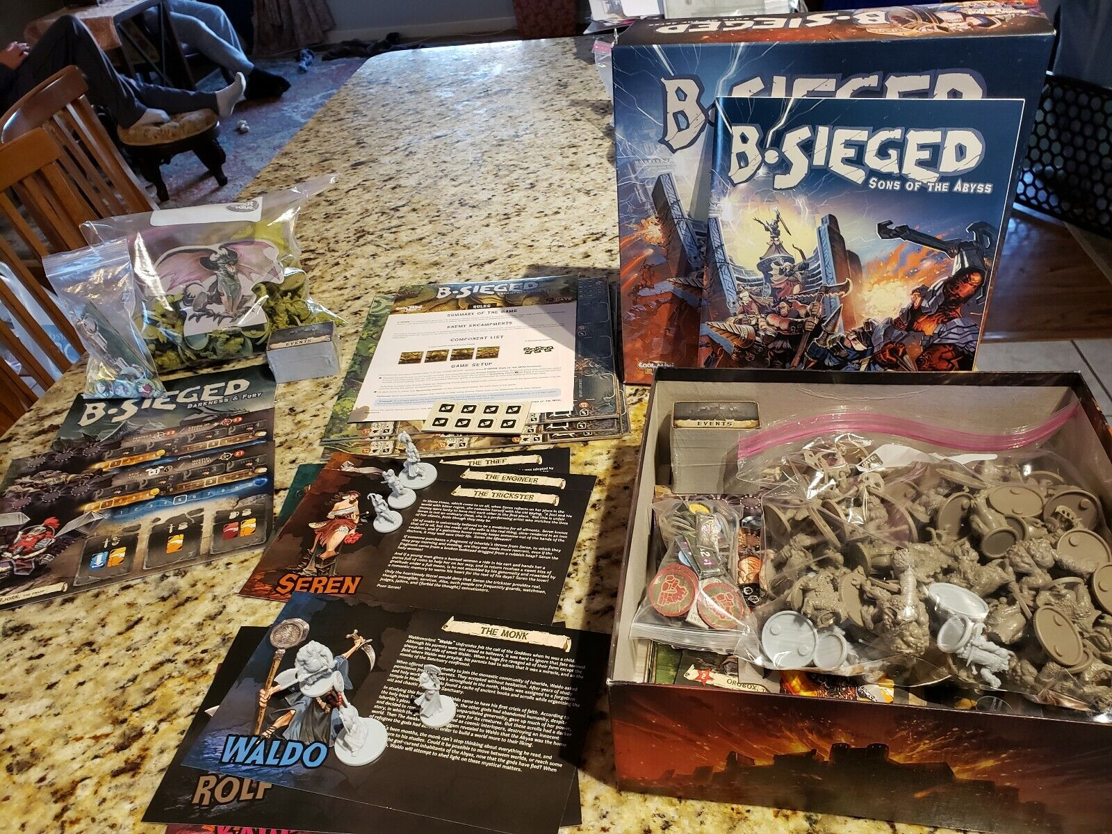 B-Sieged Game, with Fury Expansion, heros 1 & 2 & enemy