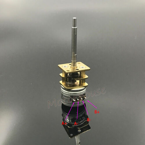 Mini 15MM Metal Gear Stepper Stepping Motor 2-Phase 4-Wire Gearbox Long Shaft