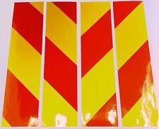 "Reflective adhesive vinyl hazard chevrons 4x 8"" x 2"""