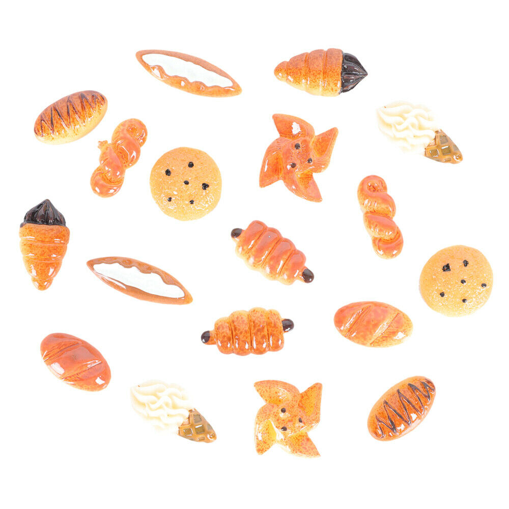 18pcs Case Charm Bread Creative Resin Craft Making Accessories DIY Charms