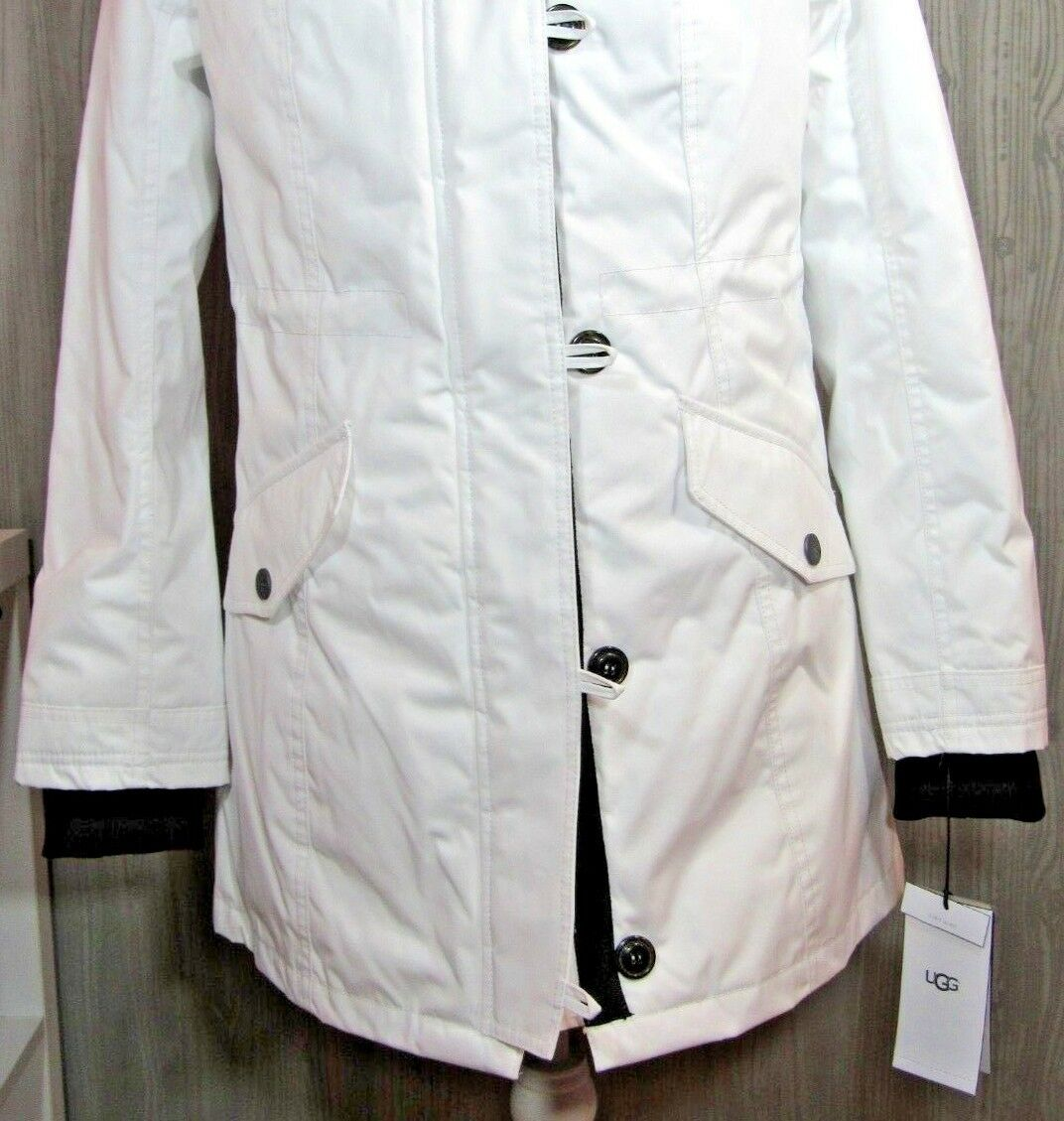 36201f5610d UGG Australia Adirondack Parka 1017640 Toscana Hooded 3 in 1 Removeable  Vest WHT