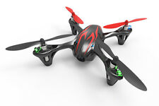 Hubsan X4 quadricóptero Rtf Con Cámara De Video Y Luces Led-Negro/rojo