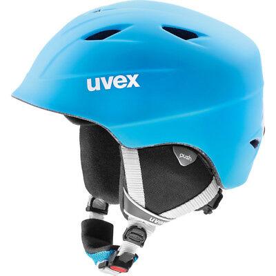 NEW UVEX AIRWING 2 PRO SKI BOARDING HELMET 52 53 54 JUNIOR KID LIGHT BLUE MATTE