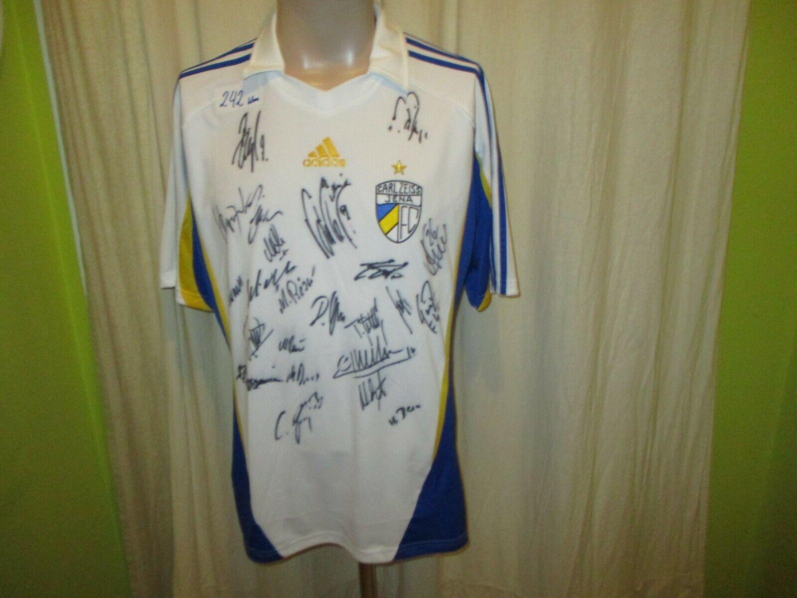 FC Carl Zeiss Zeiss Zeiss Jena Adidas Trikot 2009 10  ohne Sponsor  + Handsigniert Gr.L Neu acfedd